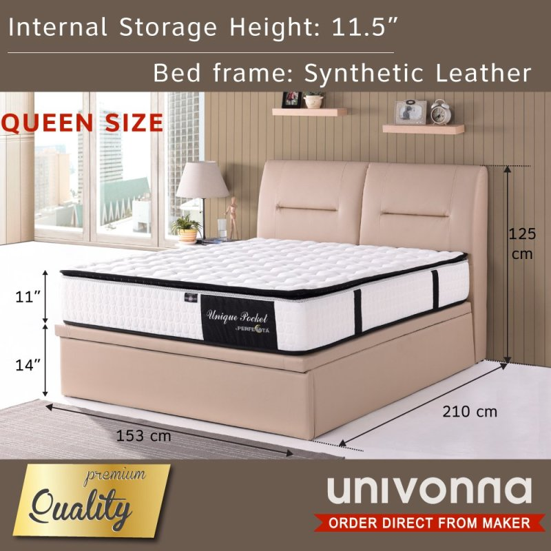 Storage Bed with 11 Individual Pocket Spring Mattress