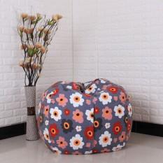 Get Cheap Storage Kids Stuffed Animal Plush Toy Storage Bean Bag Soft Pouch Stripe Fabric Chair Re Foxloom Intl