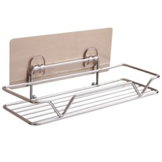 Strong Wall Mounted Sticky Shower Bathroom Kitchen Rack Shelf Holder For Soap Shampoo Bath Towel Cleaning Supplies Kitchen Small Gadgets - Intl By Vococal Shop.