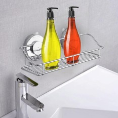 Strong Wall Mounted Suction Shower Bathroom Kitchen Rack Shelf Holder For Soap Shampoo Bath Towel Toilet Paper Cleaning Supplies Kitchen Small Gadgets - Intl By Vococal Shop.