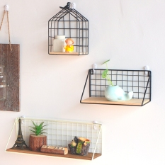 Student Dormitory bed Wall Shelf wrought iron shelf