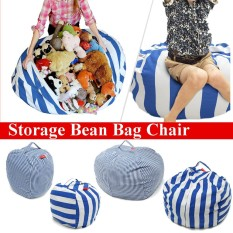 Price Stuffed Animal Storage Bean Bag Chair Kids Toy Organizer With Handle M 58X40Cm Intl Not Specified