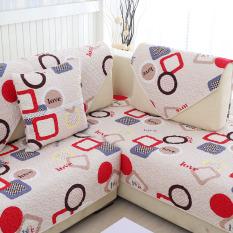 Modern Minimalist Fabric Wood Sofa Covers Sofa Pad On China