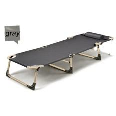 Buy Sun Lounger Garden Bed Chair Recliner Pool Seat With Hole U Pillow Fold Flat Grey Intl Cheap Singapore