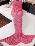 Sunweb *D*Lt Stylish Knitting Sleeping Bag Watermelon Red Fish Mermaid Tail Shape Sofa Blanket Intl Promo Code