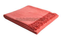 Store Solid Color Super Soft Bamboo Cotton Shawl Airable Blanket Oem On China