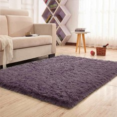 Super Soft Indoor Modern Shag Area Silky Smooth Rugs Living Room Floor Mat/cover Carpets Floor Rug Area Rug 120 x 160cm - intl