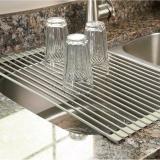 Price Surpahs Over The Sink Multipurpose Roll Up Dish Drying Rack Warm Gray Intl Letsbay Original
