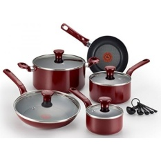 T Fal C514Se Excite Nonstick Thermo Spot Dishwasher Safe Oven Safe Pfoa Free Cookware Set 14 Piece Red Intl Coupon