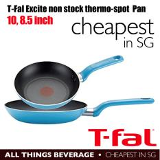 T-fal Tefal C512S2 Excite Nonstick Thermo-Spot Dishwasher Safe Oven Safe  PFOA Free 8-Inch and 10 25-Inch Fry Pan Cookware Set, 2-Piece, Blue  (Cheapest