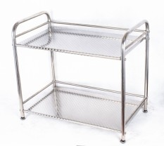 Price Table Double Stainless Steel Microwave Oven Rack Shelving Rack Online China