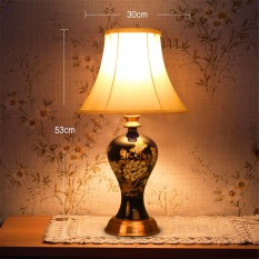 Sale Table Lampsceramic Cloth Cover Desk Lamp Warm Bedroom Desk Lamp Bedside Lamp Modern Simplified Chinese Marriage Creative Learning Table Lamp Intl China Cheap