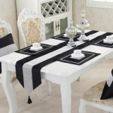 Best Table Runner Flannel Diamond Table Cloth Table Decoration Home Decoration Black S Intl
