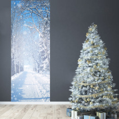 Get Cheap Tanbaby 2017 New Fashion 2 Pcs Set Winter Snow Wall Stickers Diy Mural Bedroom Home Decoration 3D Wall Stickers Poster Door Stickers Wallpaper Home Decoration