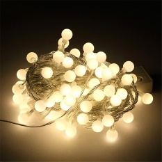 Tanbaby 220V Warm white waterproof 10M 80 LED Globe String Lights Ball Fairy String Garland Lamp for Party Christmas diwali festival Wedding New Year Indoor&outdoor Decoration - intl Singapore