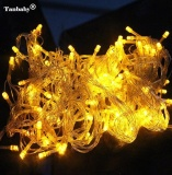 Price Tanbaby 30Meters Yellow Waterproof Ac 220V 300Leds Holiday String Lights Outdoor Fairy Lamp With Controller For Christmas Tree Dewali Festival Wedding Party Halloween Showcase Displays Bar And Home Garden Decoration Control Up To 8 Modes Intl On China