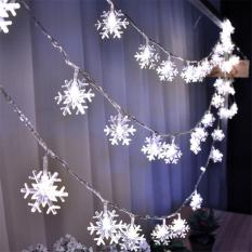 Tanbaby 3M 30leds White Christmas Snowflake string lights fairy lights waterproof  for Garden Patio wedding home Party Indoor Outdoor Decoration  ,battery operated(3 AA not included )