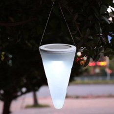 Best Rated Tanbaby Solar Hanging Light Cone Shape Rgb White Warm White Waterproof Outdoor Decoration Light For Garden Pathway Yard Party Landscape Wall Led Holiaday Lighting