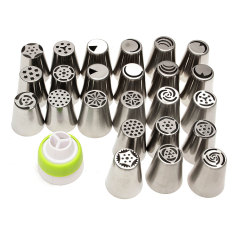 Review Teamtop 24Pcs Russian Icing Piping Nozzles Tips Cake Decorating Sugarcraft Pastry Tool Oem On China