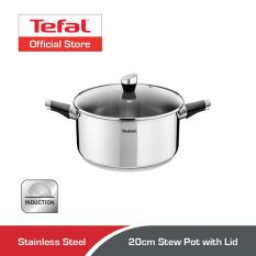 Top Rated Tefal Emotion Stainless Steel Stew Pot W Lid 20Cm E82344