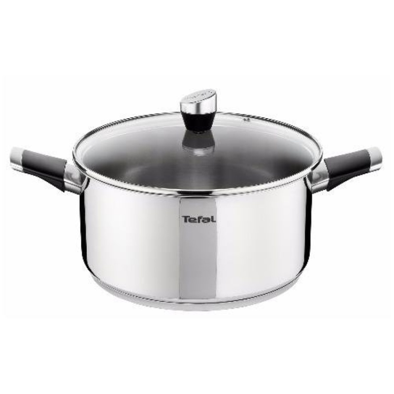 Tefal Emotion Stainless Steel Stewpot 24cm w/Lid - E8234624 Singapore