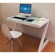 Best Rated Umd 140X60X75 Tempered Glass Table Study Stable Study Desk Computer Desk