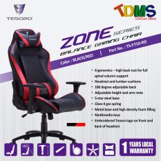Tesoro Zone Balance Gaming Chair Black Red Ergonomic Design Red Tesoro Discount