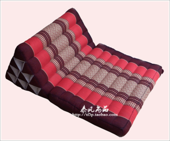 Price Comparison For Thai Fabric Products Kapok Triangle Cushion Southeast Asia Pillow Sofa Pillow Lumbar Pillow A Layer Tatami