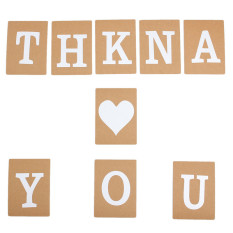 Thank You Wedding Banner Bunting Garlands Photo Props Bridal Party Decorate Sign Brown By Freebang.