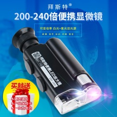 Discount Thanks To Manchester Handheld Magnifying Glass With Light Led200 Times 240 Times Microscope Mirror Purple Monkey Ticket Coin Jade Identification