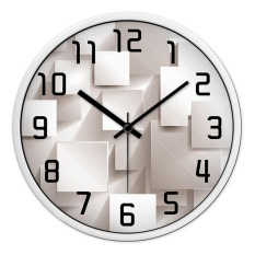 The ideas of the modern living room wall clock mute personality big clock on the wall