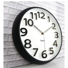 The living room wall clock clock three-dimensional fashion modern minimalist round quartz clock 32cm - intl
