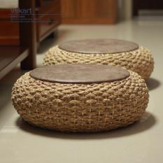Futon throw pillow Straw Tatami da zuo dian Terrace/Patio Floor Grass Pier Thick Rattan Pier Circle Stool Coaster