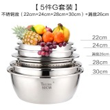 Thick Round Baking Stainless Steel Bowl Soup Pots Lower Price