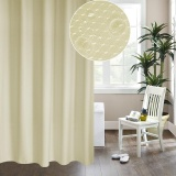 Cheap Thickening Waterproof And Mildew Curtain Honeycomb Texture Polyester Cloth Shower Curtain Bathroom Curtains Size 120 200Cm Beige Intl