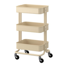Three Layer Small Carts Bathroom Living Room Storage Rack Trolley Car Oem Cheap On China