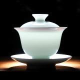 Sale Sisin Jingdezhen White Porcelain Covered Tea Bowl Online On China