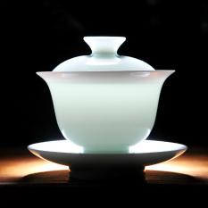 Get Cheap Sisin Jingdezhen White Porcelain Covered Tea Bowl