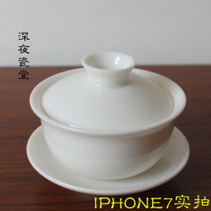 Discount Three Only Suet White Jade Porcelain Tureen Oem On China