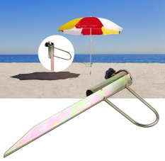 TMISHION 1Pc Sand Parasol Archor Garden Outdoor Travel Iron Sun Beach Fishing Umbrella Holder - intl