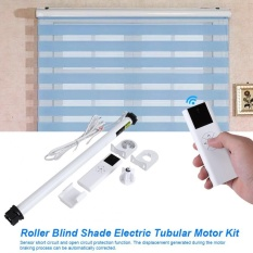 【Buy One Get One Free!!】Roller Blind Shade Electric Tubular Motor Kit with Remote Transmitter Control Brackets (US Plug)