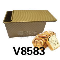 How Do I Get Square Gold Does Not Stick Corrugated With Lid Toast Box