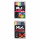 Tombow Dual Brush Pen Art Markers Set Of 10 Pack Bright And 10 Pack Primary 20 Packs Intl South Korea