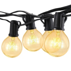 Tomshine G40 Incandescent String Light 2 Spare Bulbs Total Power 175W 25FT E12 Base for Patio Garden Backyard Party Christmas Holiday Wedding Decorations - intl Singapore