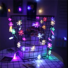TOMSOO 10M 100leds Christmas Tree Snow Flakes Led Fairy String Light Garden Home Decor Wedding party colorfull - intl Singapore