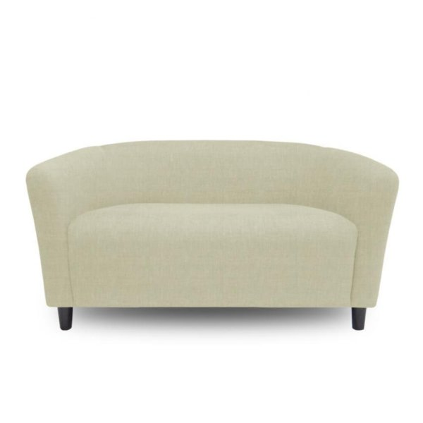 Ton 2 Seater Tub Chair With High Quality Wooden Leg (Beige)