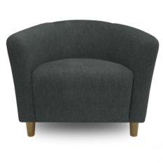 Ton Tub Armchair With High Quality Wooden Leg (Dark Grey)