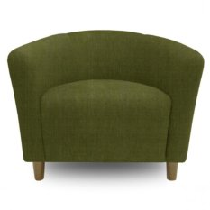 Ton Tub Armchair With High Quality Wooden Leg (Green)