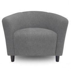 Ton Tub Armchair With High Quality Wooden Leg (Light Grey)