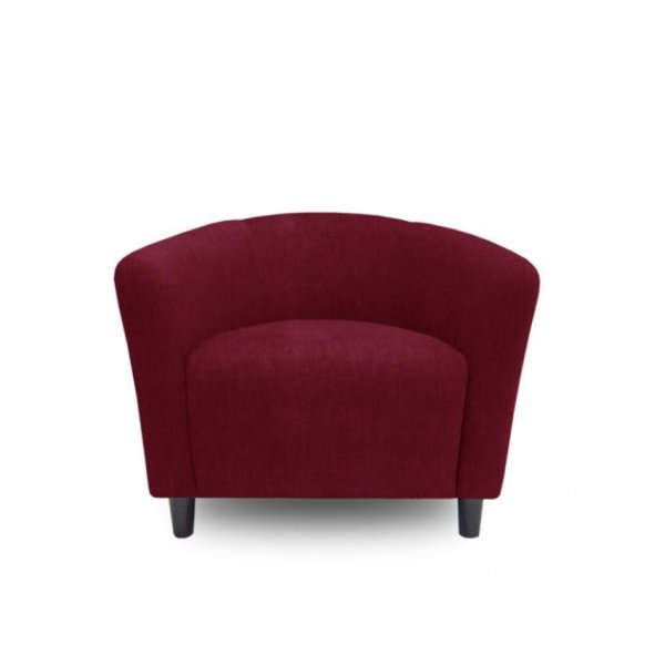 Ton Tub Armchair With High Quality Wooden Leg (Red)